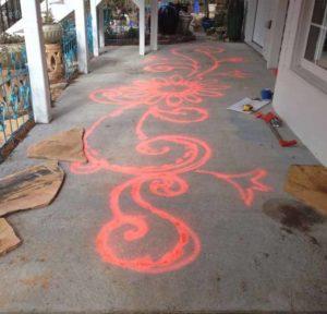 дизайн сада терраса с мозаикой своими руками