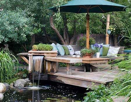Дизайн сада своими руками яркие патио