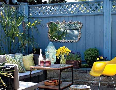 яркие патио в дизайне сада своими руками