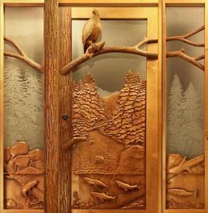 деревянные входные двери для дома