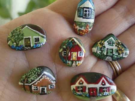 поделки для сада своими руками садовые домики из камня