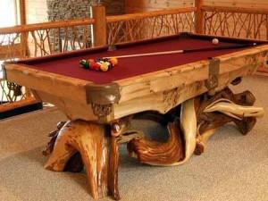 поделки для сада. бильярдный стол из коряг