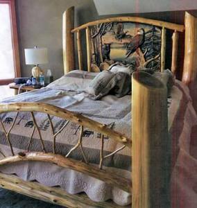 поделки для сада кровать из коряг