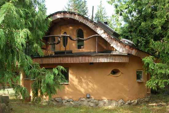 дачный дом из глины