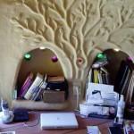 интерьер дачного дома из глины ниша