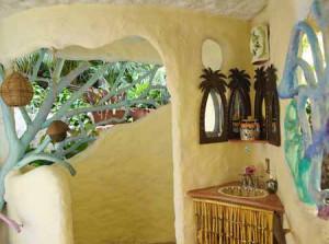 интерьер дачного дома из глины необычные окна