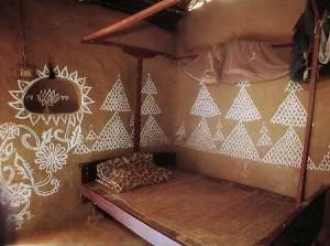 интерьер дачного дома из глины отделка стен