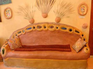 интерьер дачного дома лавка