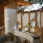 интерьер дачного дома из глины красивая веранда