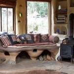 преимущества интерьера дачного дома из глины