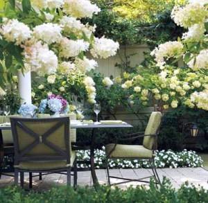 фото ландшафтного дизайна белого сада
