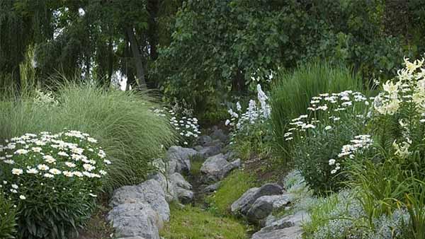 ландшафтный дизайн белого сада