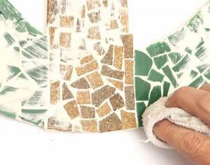 мозаичное панно для забора на даче