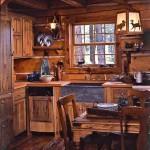 фото кухни с отделкой деревом