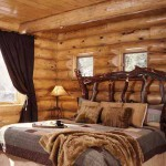 красивое фото спальни в доме из дерева