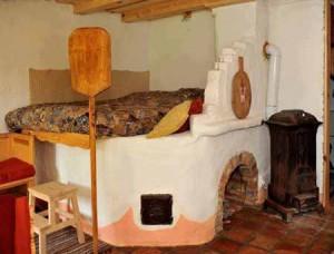 печка в интерьере дома