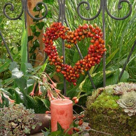 осенние поделки из природных материалов для сада