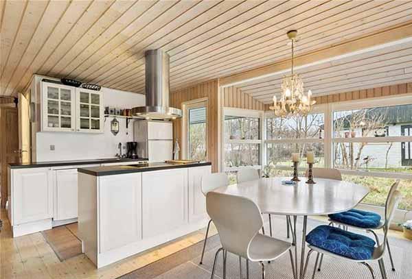 скандинавский проект дачного дома. кухня