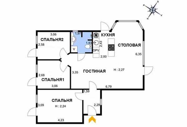 скандинавский проект дачного дома планировка