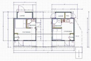 проект каркасного дачного дома планировка