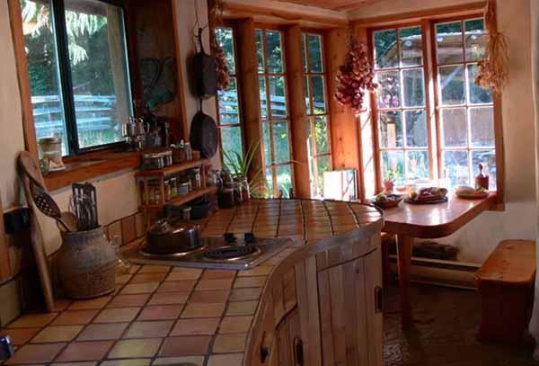 проект недорого дачного дома кухня