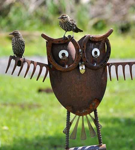 необычные садовые фигурки