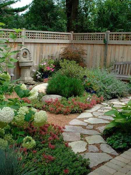 Извилистые дорожки в дизайне сада