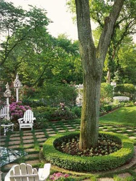 красивый дизайн сада своими руками-план