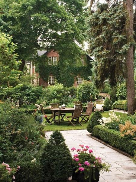 красивый дизайн сада своими руками-место отдыха