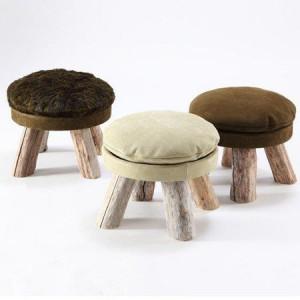 садовая мебель из дерева - пуфы