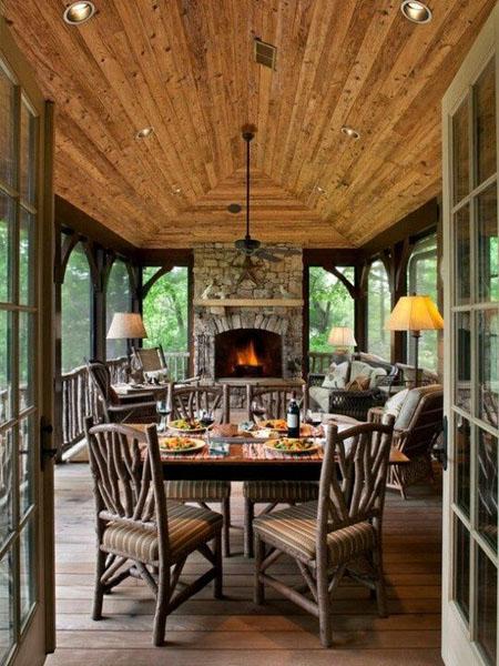 Дизайн веранды на даче и в частном доме как оформить 94
