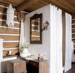 деревенский дом душевая кабинка