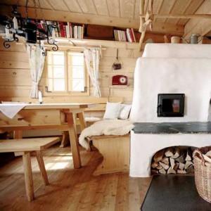 печка в доме-шале