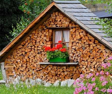 Поленница для дров своими руками для дачи фото 780