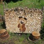 дрова для дачи дровницы