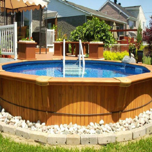 Модная терраса с басейном
