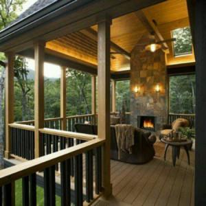 Уютная терраса на даче фото