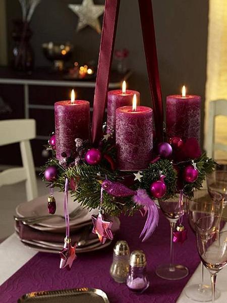 Новогодняя композиция над столом