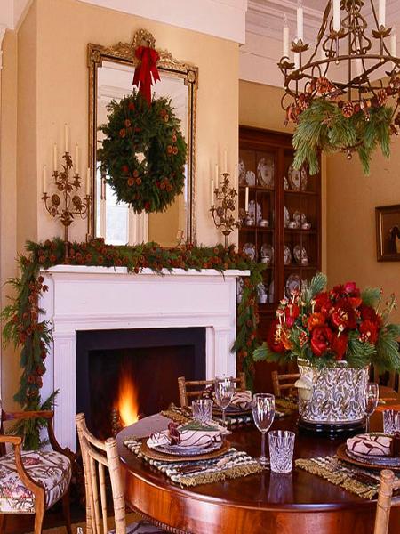 Новогодний интерьер гостинной
