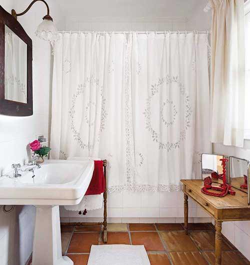 загородный дом интерьер ванной