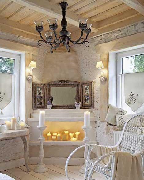интерьер ванной комнаты в загородном доме