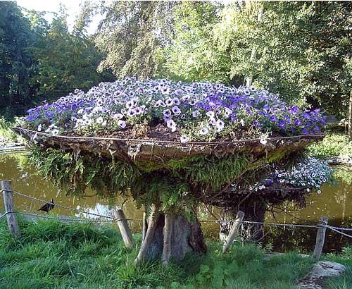 цветники в саду необычные идеи своими руками