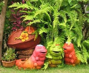 как сделать интересный цветник в саду