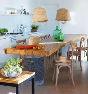 кухня в загородном доме в Испании