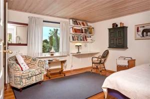 интерьер загородного дома в Швеции спальня
