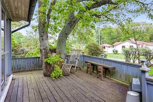 загородный дом в Швеции терраса