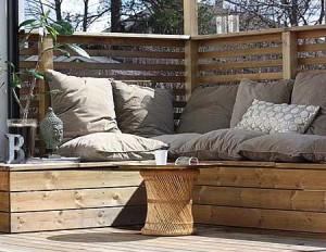 как сделать мебель для дачи из поддонов
