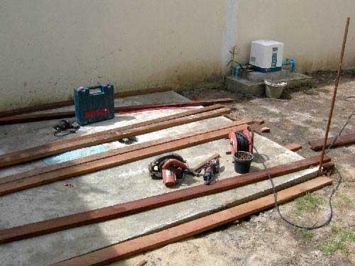 подготавливаем материалы для дизайна сада