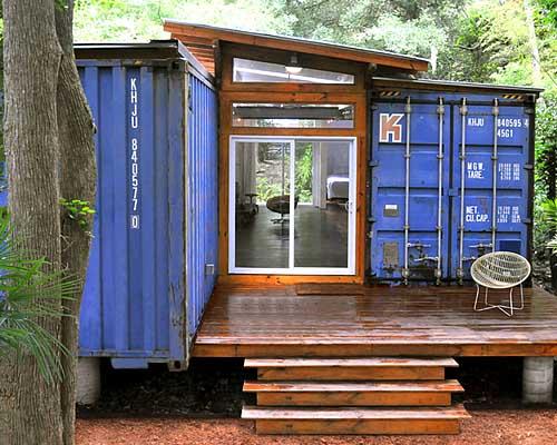 проект дачного дома из двух контейнеров