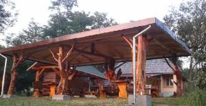 деревянные беседки на даче в стиле рустик фото